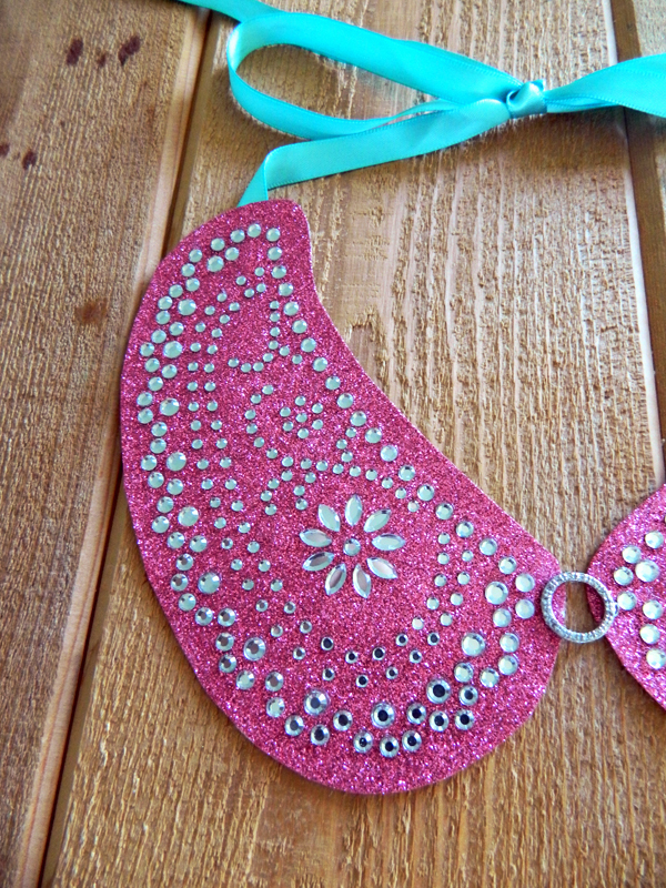 diy rhinestone peter pan collar necklace